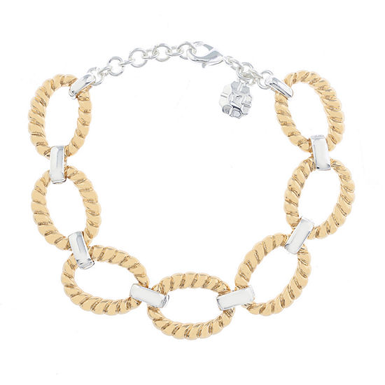 Monet Jewelry Classic With A Metal Twist Chain Bracelet