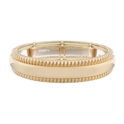 Monet Jewelry Classic With A Metal Twist Stretch Bracelet