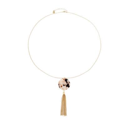 Liz Claiborne Color Resin Womens Pendant Necklace