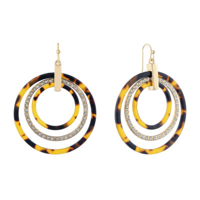 Liz Claiborne Color Resin Drop Earrings