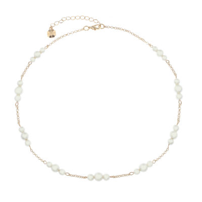 Monet Jewelry Spring Pearl Womens Collar Necklace