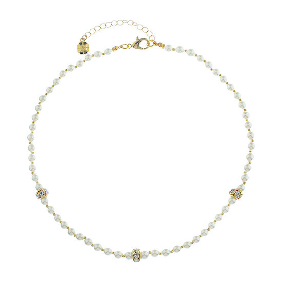 Monet Jewelry Spring Pearl 16 Inch Curb Collar Necklace