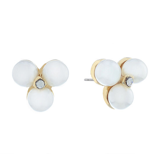 Monet Jewelry Spring Pearl 19mm Stud Earrings