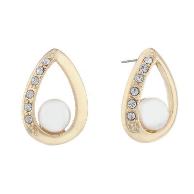 Monet Jewelry Spring Pearl 20mm Stud Earrings
