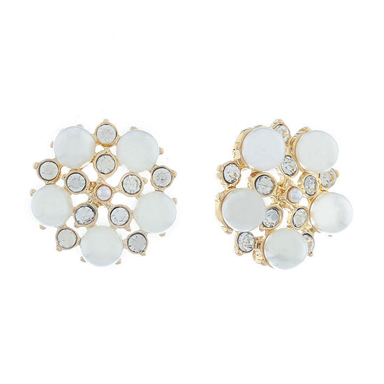 Monet Jewelry Spring Pearl 20.5mm Stud Earrings