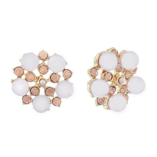 Monet Jewelry Spring Pearl 20.5mm Stud Earrings