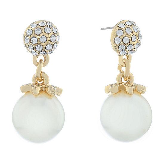 Monet Jewelry Spring Pearl Drop Earrings