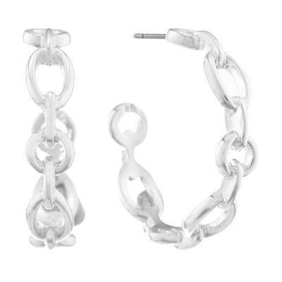 Liz Claiborne Metals 37mm Hoop Earrings