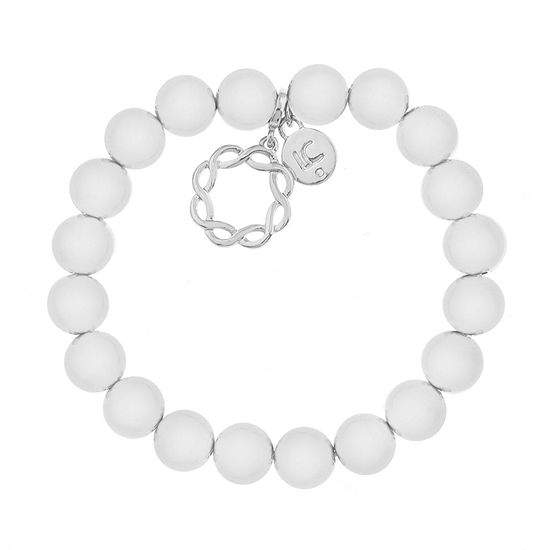 Liz Claiborne Suneshine State Silver Tone Beaded Bracelet