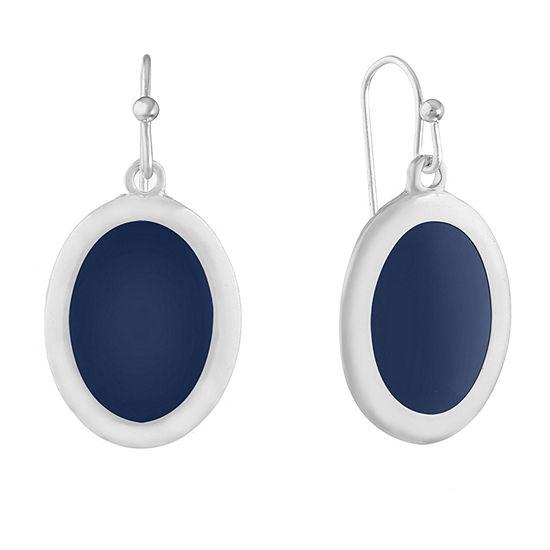 Liz Claiborne 1 Pair Blue Drop Earrings