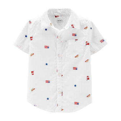 Carter's Boys Short Sleeve Button-Front Shirt Toddler