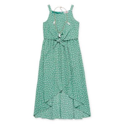 Knit Works Sleeveless Floral Maxi Dress Girls