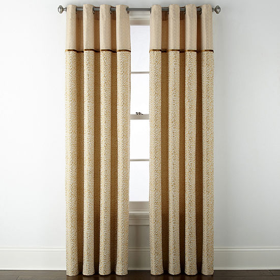 JCPenney Home Darwin Light-Filtering Grommet-Top Set of 2 Curtain Panel