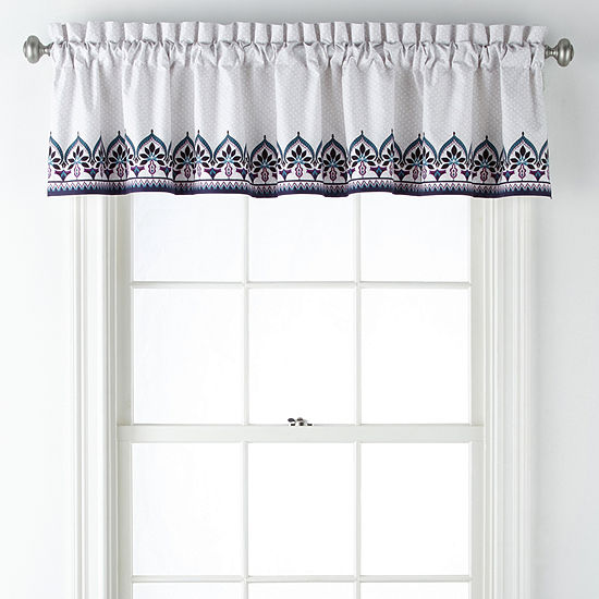 Home Expressions Olivia Rod-Pocket Tailored Valance