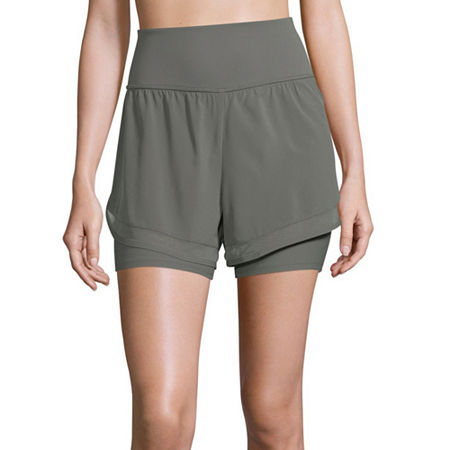 Xersion Train Womens Workout Shorts, Medium , Gray