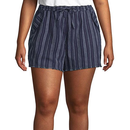 a.n.a Womens Mid Rise Soft Short-Plus
