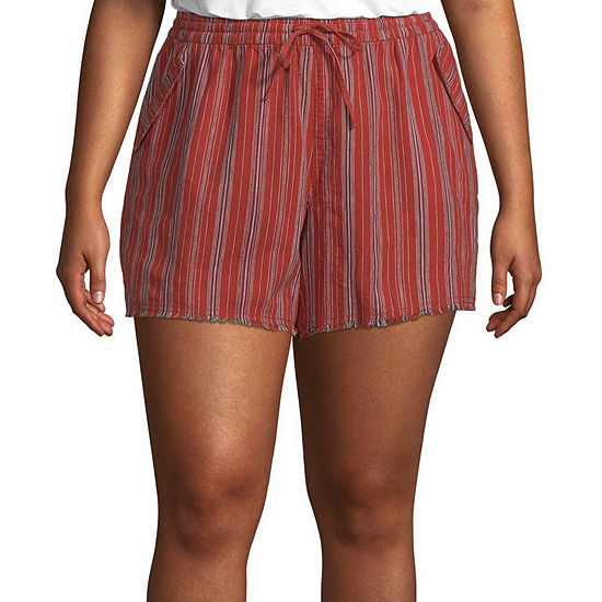 a.n.a Womens Mid Rise Soft Short-Plus
