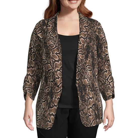 Worthington Womens Soft Unlined Jacket - Plus