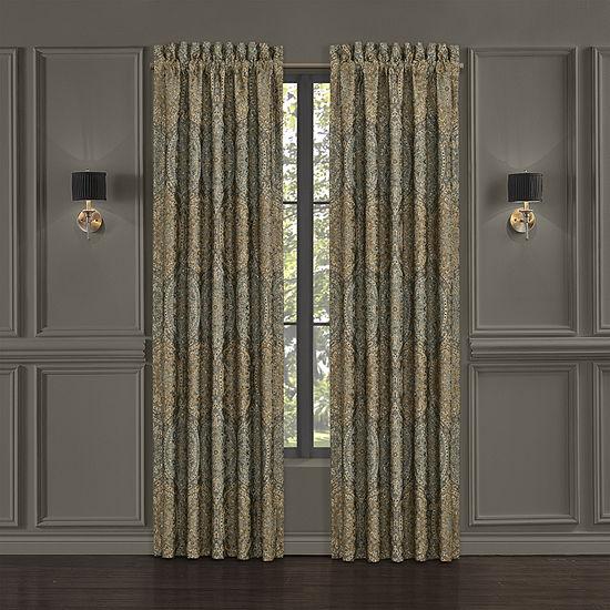 Queen Street Dayton Light-Filtering Rod-Pocket Set of 2 Curtain Panels