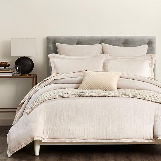 Fieldcrest Luxury Herringbone 3-pc. Comforter Set