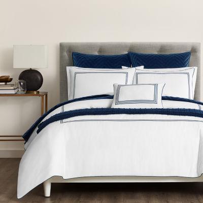 Fieldcrest Luxury Border Stripe 3-pc. Embroidered Comforter Set