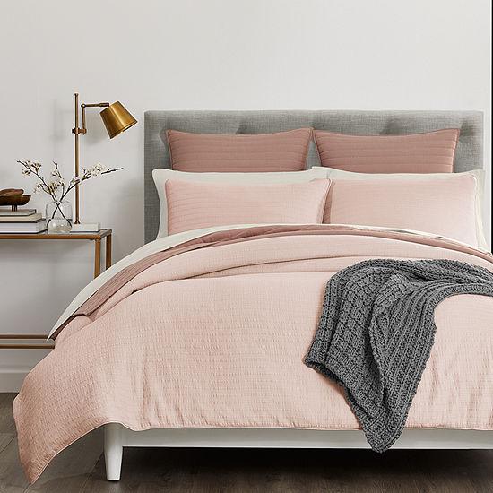 Fieldcrest Luxury Stripe Matelasse 3-pc. Comforter Set