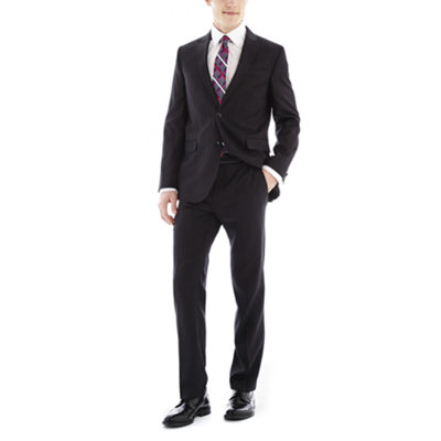 JF J. Ferrar Black Nailhead Slim-Fit Suit Separates
