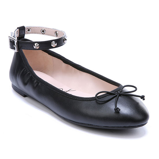 0afbe4454 Libby Edelman Womens Clarissa Ballet Flats Strap Round Toe - JCPenney
