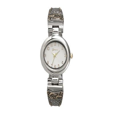 Olivia Pratt Womens Two Tone Bangle Watch-10022