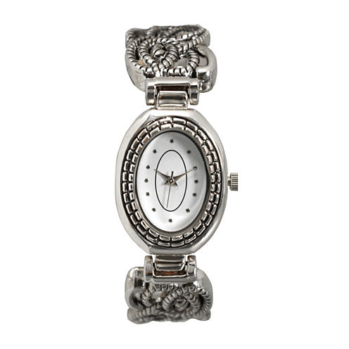 Olivia Pratt Womens Silver Tone Bangle Watch-15786