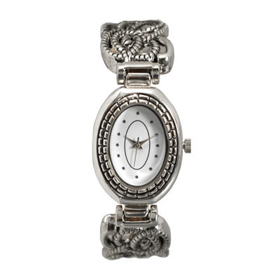Olivia Pratt Womens Silver Tone Bangle Watch-15786