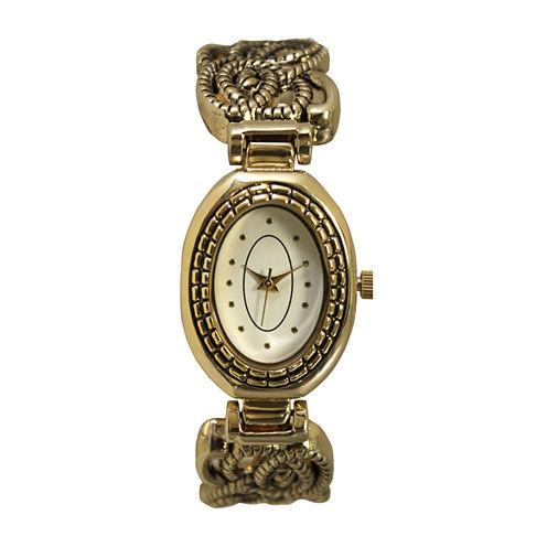 Olivia Pratt Womens Gold Tone Bangle Watch-15786