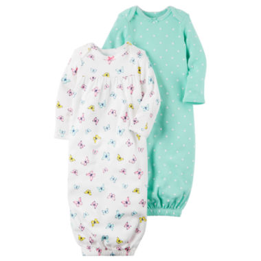 Carter's Girls Long Sleeve 2-pk. Gown - Baby