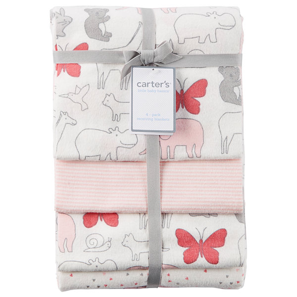 Carter's 4-pc. Hearts Blanket - Girls