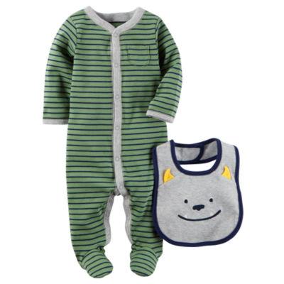 Carter's Little Baby Basics Boy Sleep and Play with Bib - Baby