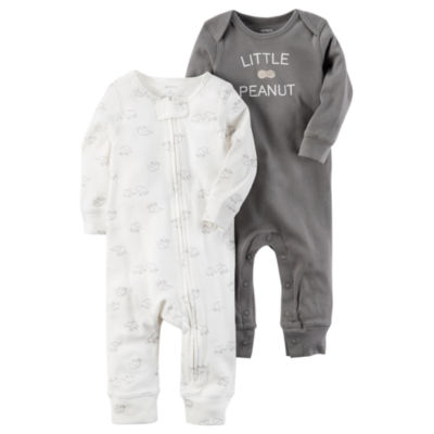 Carter's Little Baby Basics Boy 2-pk. Long Sleeve Jumpsuits - Baby
