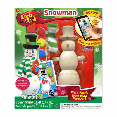 Masterpieces Puzzles Works of Ahhh... Wood Painting Kit - Winter Snowman
