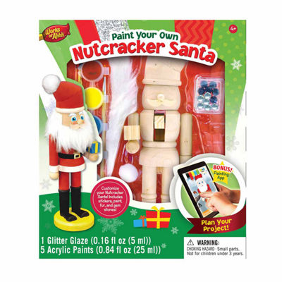 Masterpieces Puzzles Works of Ahhh... Wood Painting Kit - Nutcracker Santa