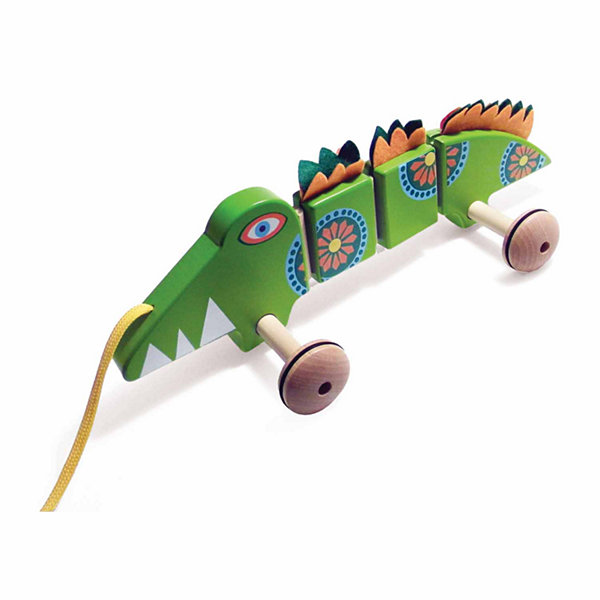 House of Marbles TiddlyTots Large Wooden Pull-Along Crocodile