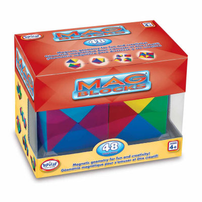 Popular Playthings Mag Blocks 48 Piece Set