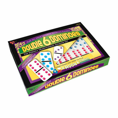 Puremco Double 6 Color Dot Dominoes - Tournament Size