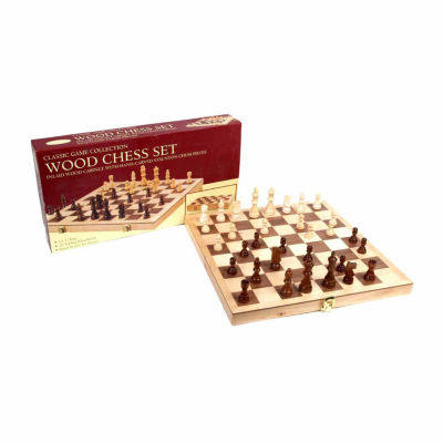 "John N. Hansen Co. 18"" Deluxe Folding Chess Set"""