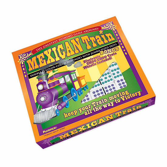 Puremco Mexican Train Double 12 Color Dot Dominoes- Professional Size