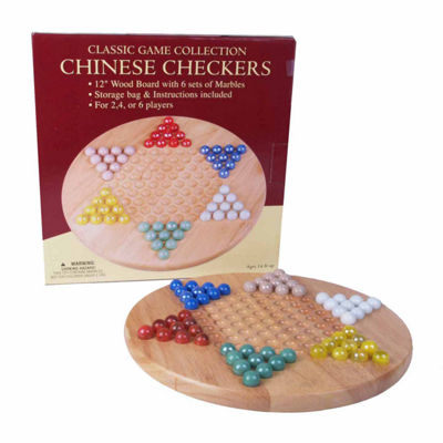 "John N. Hansen Co. 12"" Wood Chinese Checkers Set with Marbles"""
