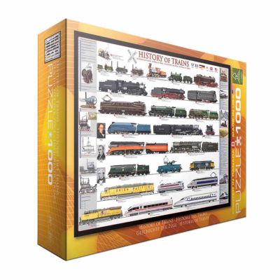 Eurographics Inc History of Trains: 1000 Pcs