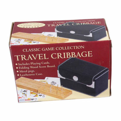 John N. Hansen Co. Travel Cribbage Game with Playing Cards