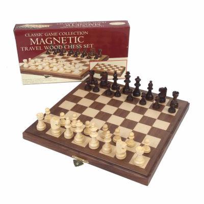 John N. Hansen Co. Travel Magnetic Walnut Chess Set