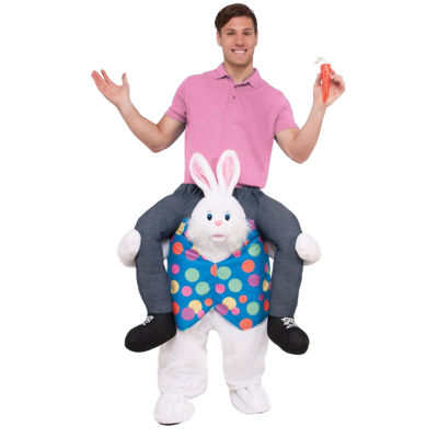 Ride an Easter Bunny Adult Costume - One Size Fits Most