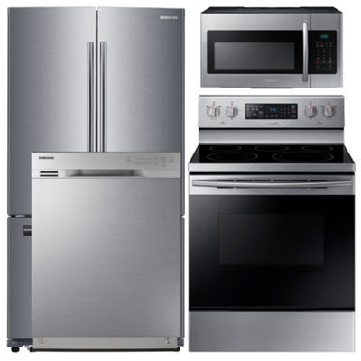 Samsung 4-pc. Electric Kitchen Package - Stainless Steel