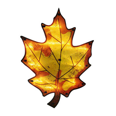 "16"" Lighted Thanksgiving Maple Leaf Window Silhouette Decoration"
